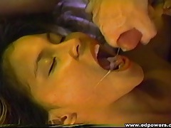 Young beauty makes the dirty old white guy cum tubes