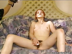 Redhead makes her first porn with an older guy tubes