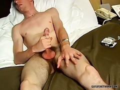 Bottom plowed in the ass from behind tubes
