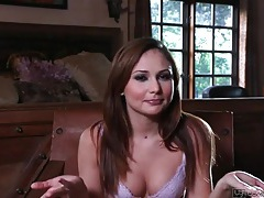 Ariana marie interview in her sexy purple bra tubes