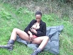 Ebony babe michelles public tubes