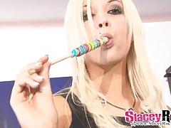 Pierced punk schoolgirl does a hot striptease tubes