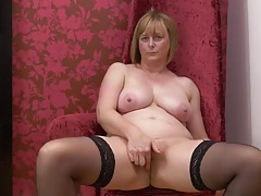 Stockings are hot on a big tits mature babe tubes