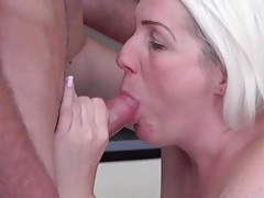 Chubby old slut fucked by a stiff young dick tubes