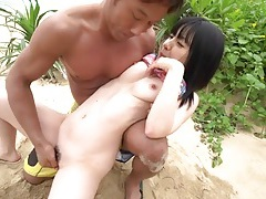 Juicy pussy japanese girl fucked on a beach tubes