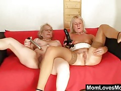 Big titted gramma penetrates a madame tubes