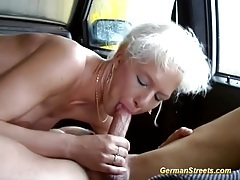 German milf picked up for wild car sex tubes