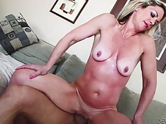 Sunburned milf fucked in her whore hole tubes