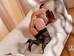 Big tits euro pornstar zafira in black stockings tubes