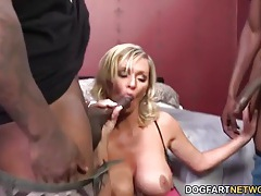 Massive black dicks fuck a slutty blonde girl tubes