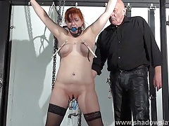 Swedish submissive vicky valkyrie tied tubes