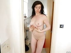 Sexy hip swaying striptease from a beauty tubes