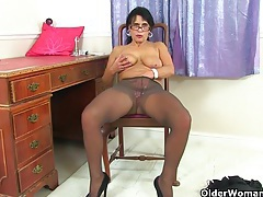 Office milfs lelani and raven from the uk tubes