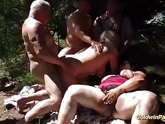 Swinger fuck orgy in nature tubes