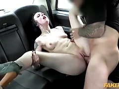Skinny tattooed slut fucked by a cab driver tubes