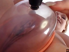 Pussy pump for the cunt of a chubby slut tubes