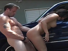 Big butt slut on the floor of his garage gets fucked tubes