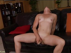Mommy lubes her toy and fucks her hot cunt tubes