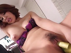 Wet cunt asian sits on his chest and masturbates tubes
