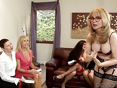 Lesbian milf book club has fine looking ladies tubes